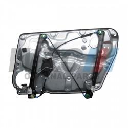 Podnośnik szyby lewy przód elektryczny 4 drzwi WRC 3B1837461 z blachą.